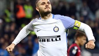 Mauro Icardi avancierte für Inter erneut zum Matchwinner