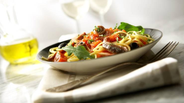 Spaghetti alla Puttanesca: Die Spaghetti nach Hurenart.