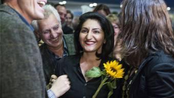 Szenen wie diese sollen sich nicht mehr wiederholen: Basta-Politikerin Sibel Arslan schnappt im letzten Oktober dem CVP-Kandidaten Markus Lehmann den Sitz weg und zieht in den Nationalrat ein.