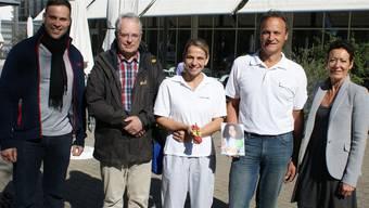 Für die Herbstaktion des Gesundheitsforums sind (v. l.) Dennis Kurz vom Schjkk, Ueli Urwyler, Corinne Messerli, Willi Bäckert und Béa Bieber in diesem Jahr verantwortlich.