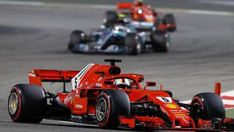 Sebastian Vettel überquerte auch in Bahrain als Erster die Ziellinie