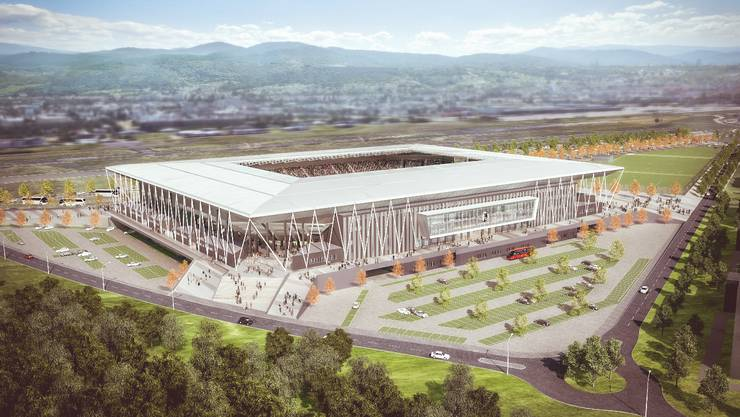 Das neue Stadion des SC Freiburg