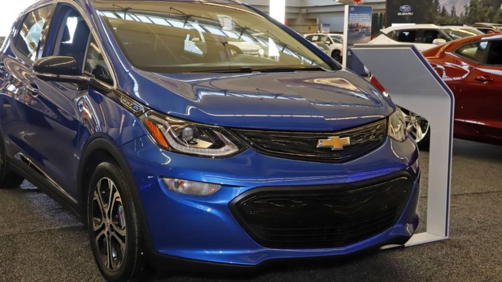 General Motors ruft über 70'000 E-Autos zurück