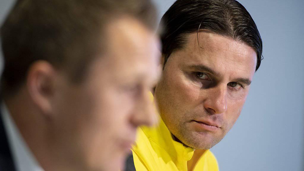 Die Macher des gelbschwarzen Fussball-Hochs: Sportchef Christoph Spycher und Cheftrainer Gerardo Seoane