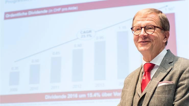 Noch-CEO und bald Präsident von DKSH: Jörg Wolle. Ennio Leanza/Keystone