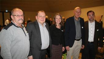 Der Vorstand der Regionalkonferenz Jura Ost (von links): Peter Hirt, René Probst, Therese Brändli, Präsident Ueli Müller und Ulrich Krieger.