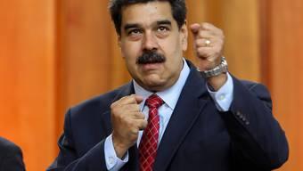 Venezuelas Staatschef Nicolás Maduro gibt sich am Freitag kämpferisch.