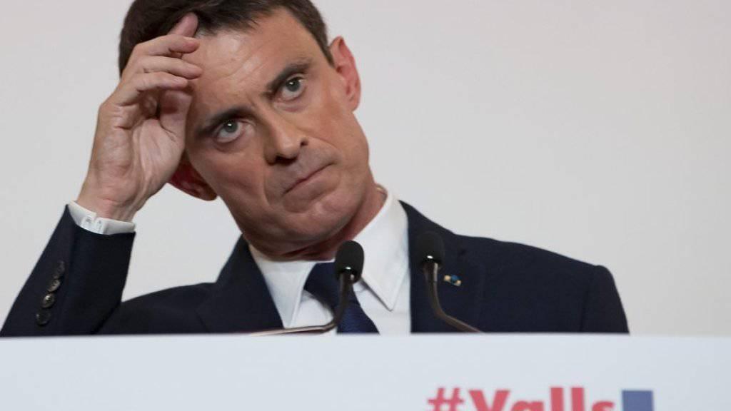 Manuel Valls am Dienstag vor den Medien in Paris.