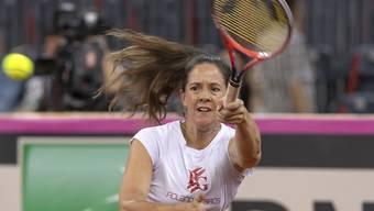 Patty Schnyder wird von Simona Halep in die Defensive gedrängt