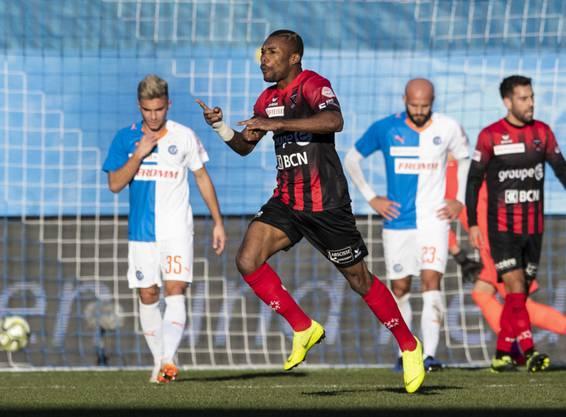 Geoffroy Serey Die schoss gegen die Grasshoppers seinen ersten Treffer für Neuchâtel Xamax.