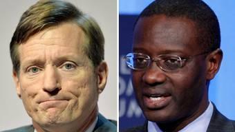 Brady Dougan (links) war sei 2007 Chef der Credit Suisse. Sein Nachfolger wird der Ivorer Tidjane Thiam.