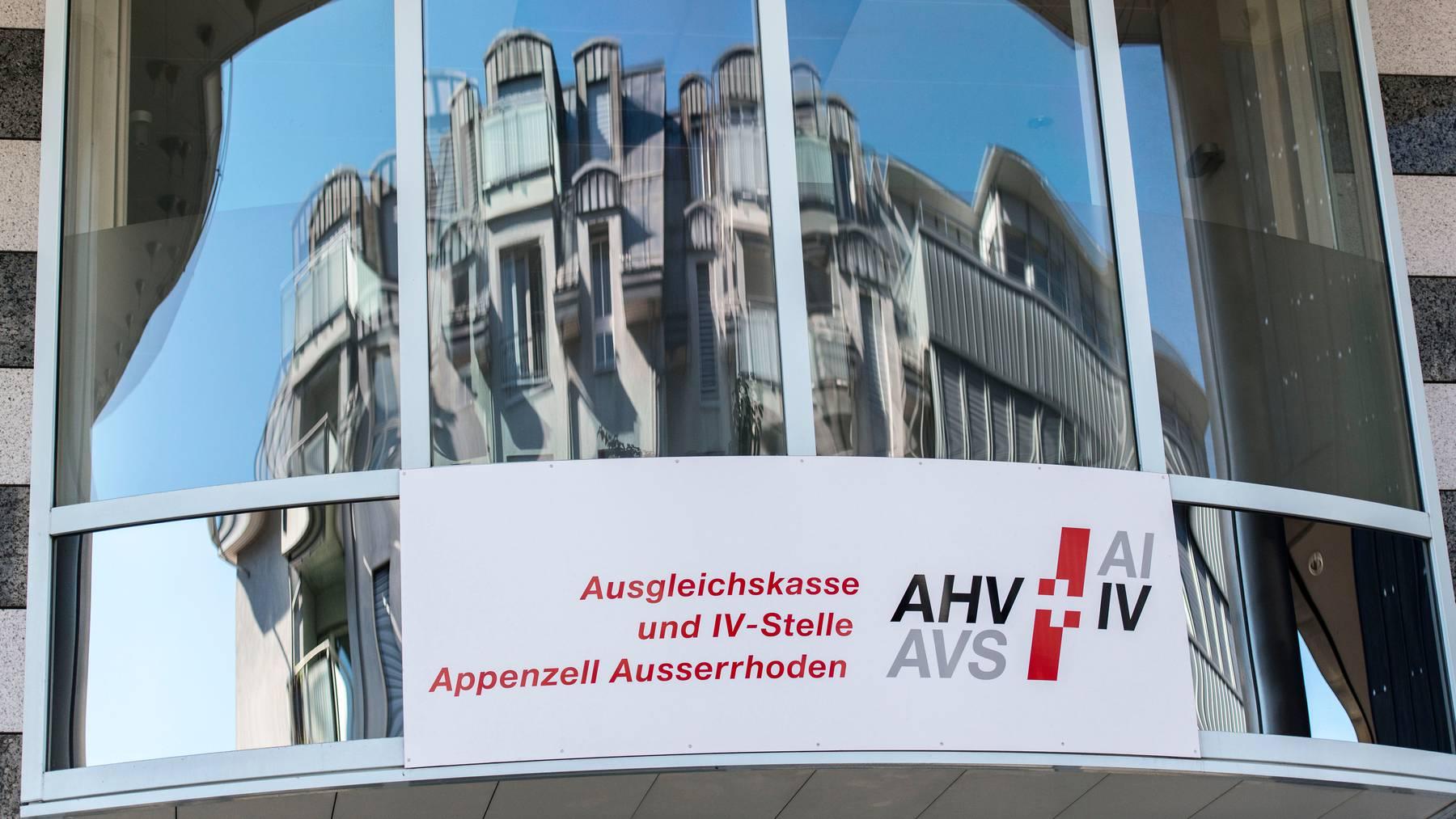 Die Fassade der Ausgleichskasse Appenzell Ausserrhoden.