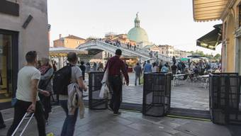 Dieses Wochenende werden die Venedig-Touristen Drehkreuze passieren müssen.