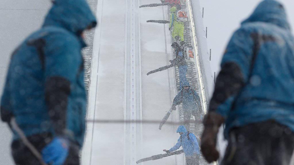 Kein Wetterglück - in Klingenthal wird heute nicht gesprungen