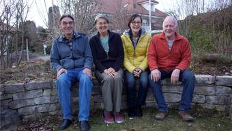Werner und Verena Isch, Gabi Siegenthaler und Herbert Nagl (von links) setzen sich für Dorf und Natur ein.
