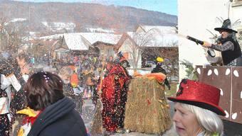 Konfettikanonen und schönstes Umzugswetter: Am Sonntag wird der Speuzer Fasnachtsumzug ausgetragen.birri
