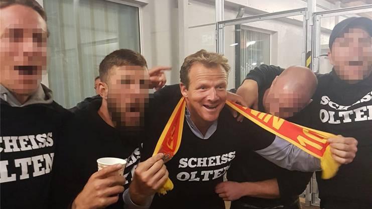 Gab im Kleinholz kein gutes Bild ab: Kevin Schläpfer mit dem unvorteilhaften T-Shirt.HO