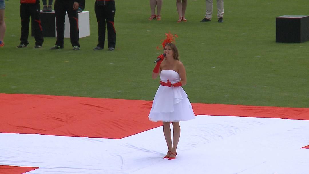 Aargauer Sängerin begeistert Publikum an Turnfest-Schlussfeier