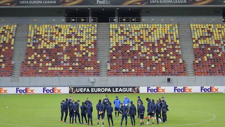 Der FC Zürich beim Abschlusstraining in Bukarest