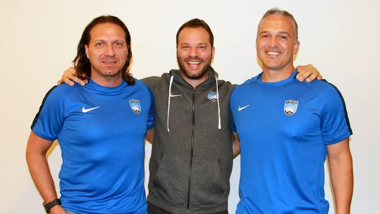 Der FC Lenzburg hat ein neues Trainerteam gefunden: Gerry Guarino (l.) und Samuel Drakopoulos (r.) wollen an die erfolgreiche vergangene Saison anknüpfen.