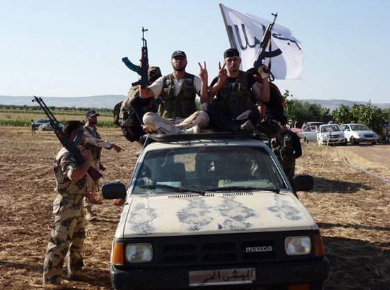 Rebellen bei Aleppo, siegessicher.