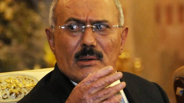 Provoziert die Opposition: Jemens Ex-Präsident Saleh (Archiv)
