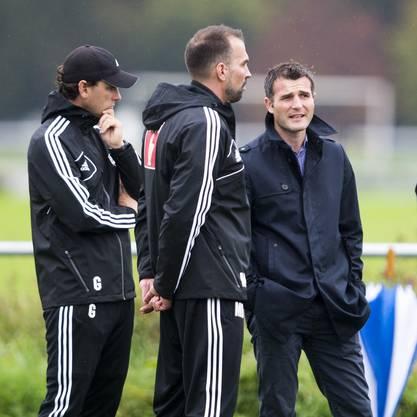 Frei beim ersten Mannschaftstraining mit Markus Babbel und seinem Assistent Gerardo Seoane.