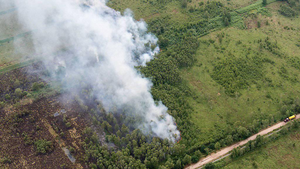 Rauch über dem Naturpark Deurnese Peel.