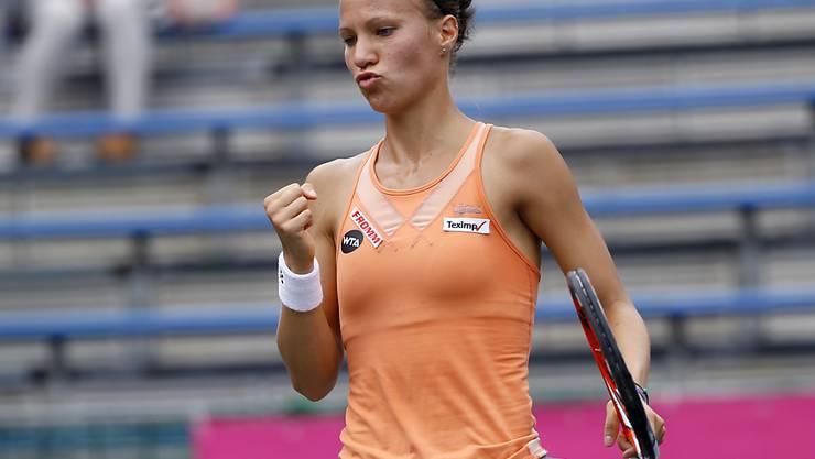 Geschafft: Viktorija Golubic steht nach Dreisatzsieg über Denisa Allertova im Achtelfinal