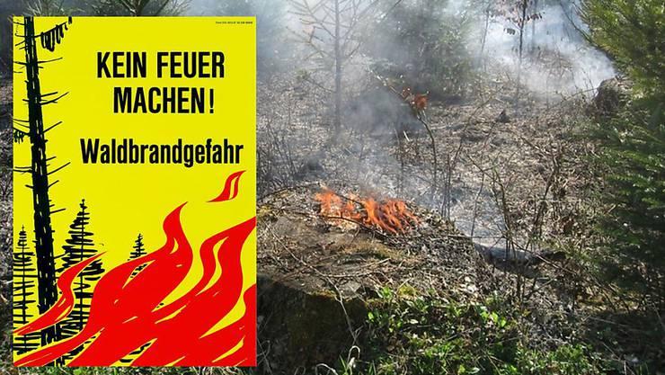 Im Kanton Solothurn besteht ein absolutes Feuer- und Feuerwerksverbot im Wald und in Waldesnähe. (Symbolbild)