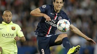 PSG-Spieler Cavani erzielte das 2:0 gegen Metz