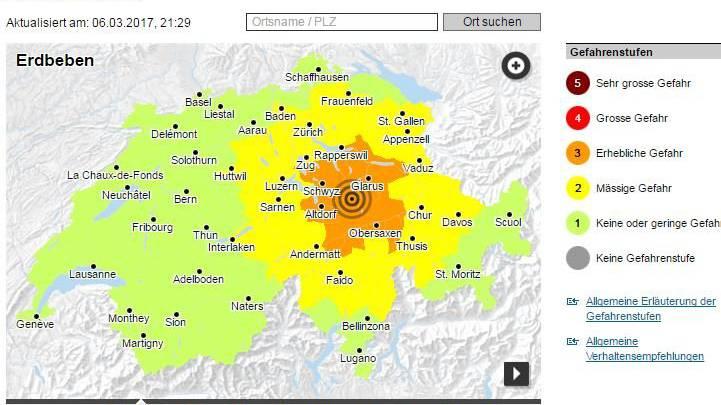 Das Erdbeben gestern Abend war bis an den Bodensee spürbar.