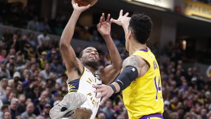 Die Indiana Pacers mit T.J. Warren (links) beendeten die Siegesserien der Los Angeles Lakers in der NBA