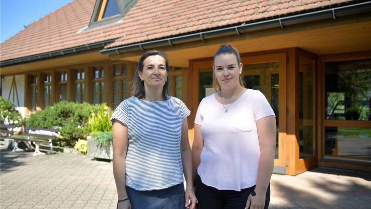 Gemeindepräsidentin Barbara Eggimann und Bauverwalterin Marina Gafner.