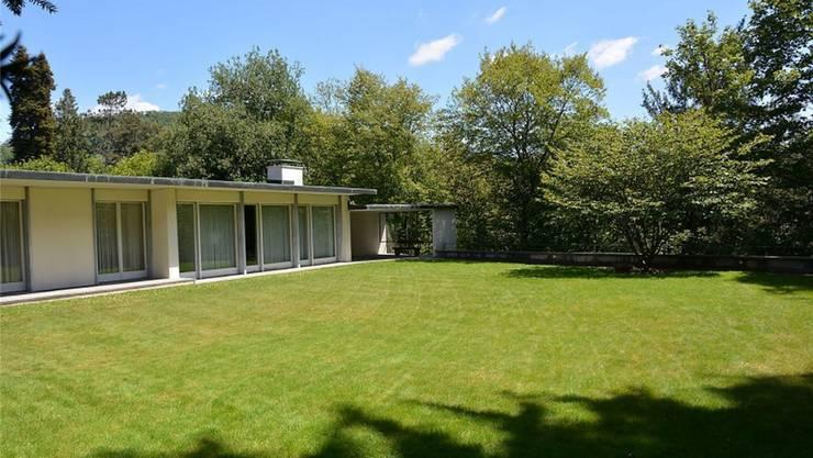Mit diesem Bild wirbt das Immobilienunternehmen Wüst und Wüst für die Badener Liegenschaft in der Nähe der bekannten Villa Boveri.