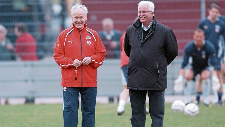 Zwei, die man einfach gern haben muss: der verstorbene Ex-Nati-Trainer Köbi Kuhn (links) und sein damaliger Chef Ernst Lämmli.