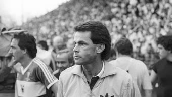 Ottmar Hitzfeld während seiner Zeit als Trainer des FC Aarau.