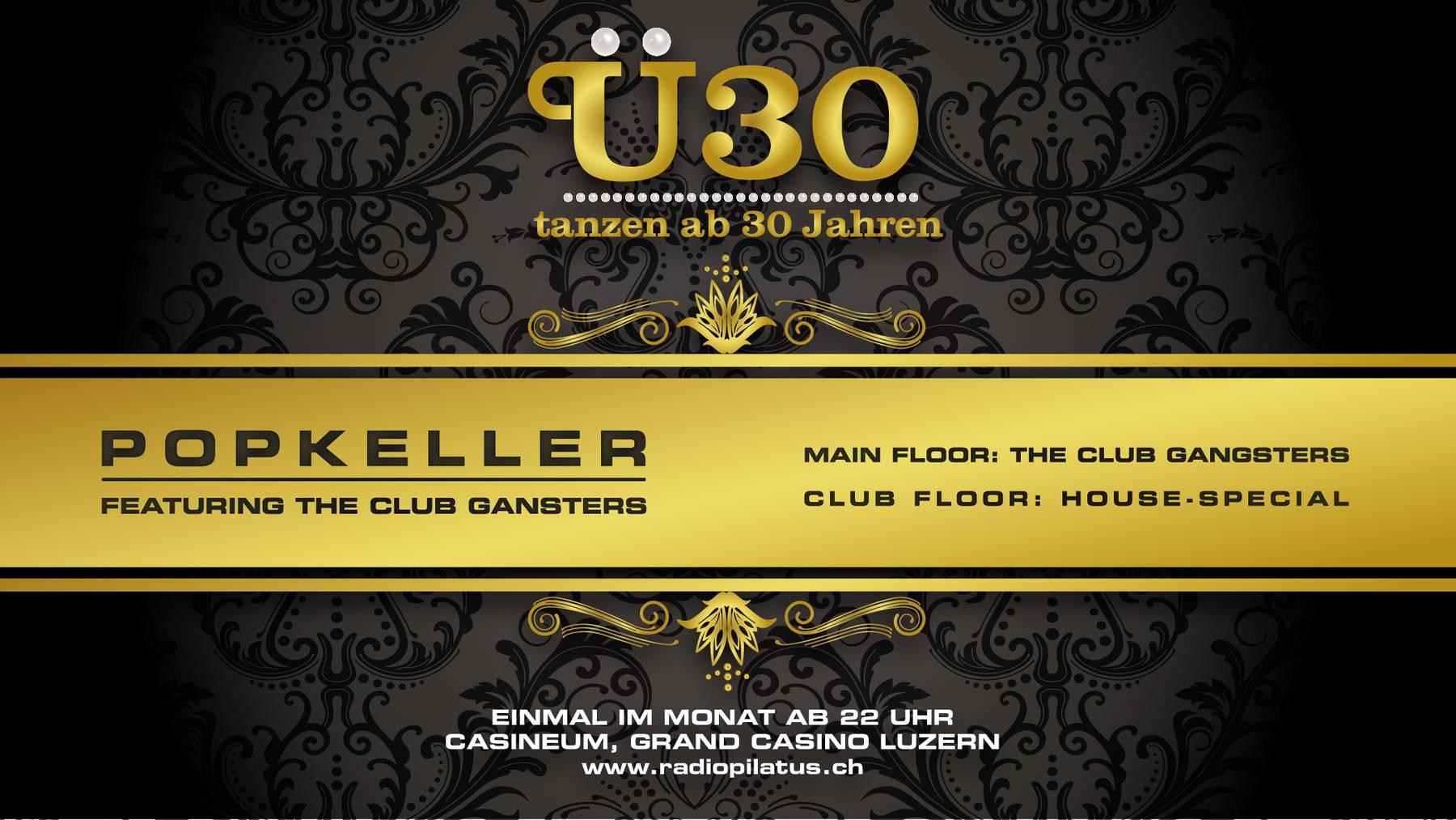 Ü30 Popkeller Party neu mit zwei Floors