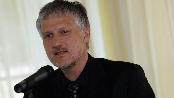 Hier spricht er bei der Einweihung der neuen VEBO-Werkstätte im 2007