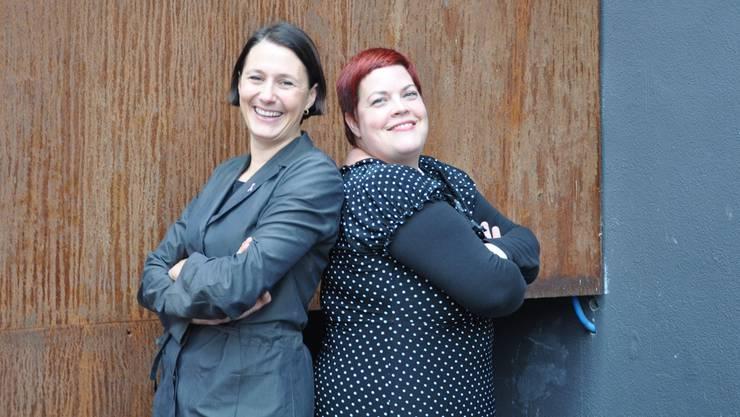 Sie geben das Co-Präsidium von «frauenaargau» im nächsten Jahr ab: Connie Fauver (Iinks) und Sandra-Anne Göbelbecker.