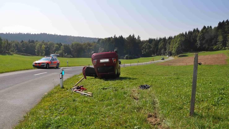 Zum Unfall kam es auf Hauptstrasse. Die Lenkerin war von Balm bei Günsberg in Richtung Rüttenen unterwegs.