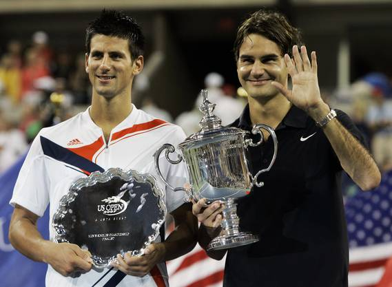 US Open 2007: Federer vs. Djokovic 7:6(4), 7:6(2), 6:4