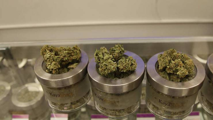 Marihuana in einem Laden in Portland im US-Bundesstaat Oregon. Das Rauschgift ist für den Privatgebrauch ab sofort legal (Archivbild).