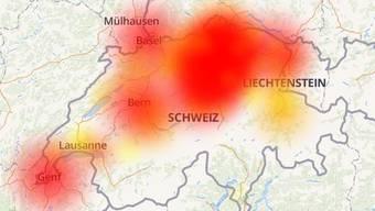 Es kommt zu Netzausfällen in der ganzen Schweiz