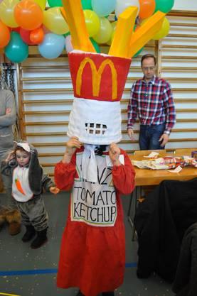 Die Ketchup-Flasche war das beste Kostüm