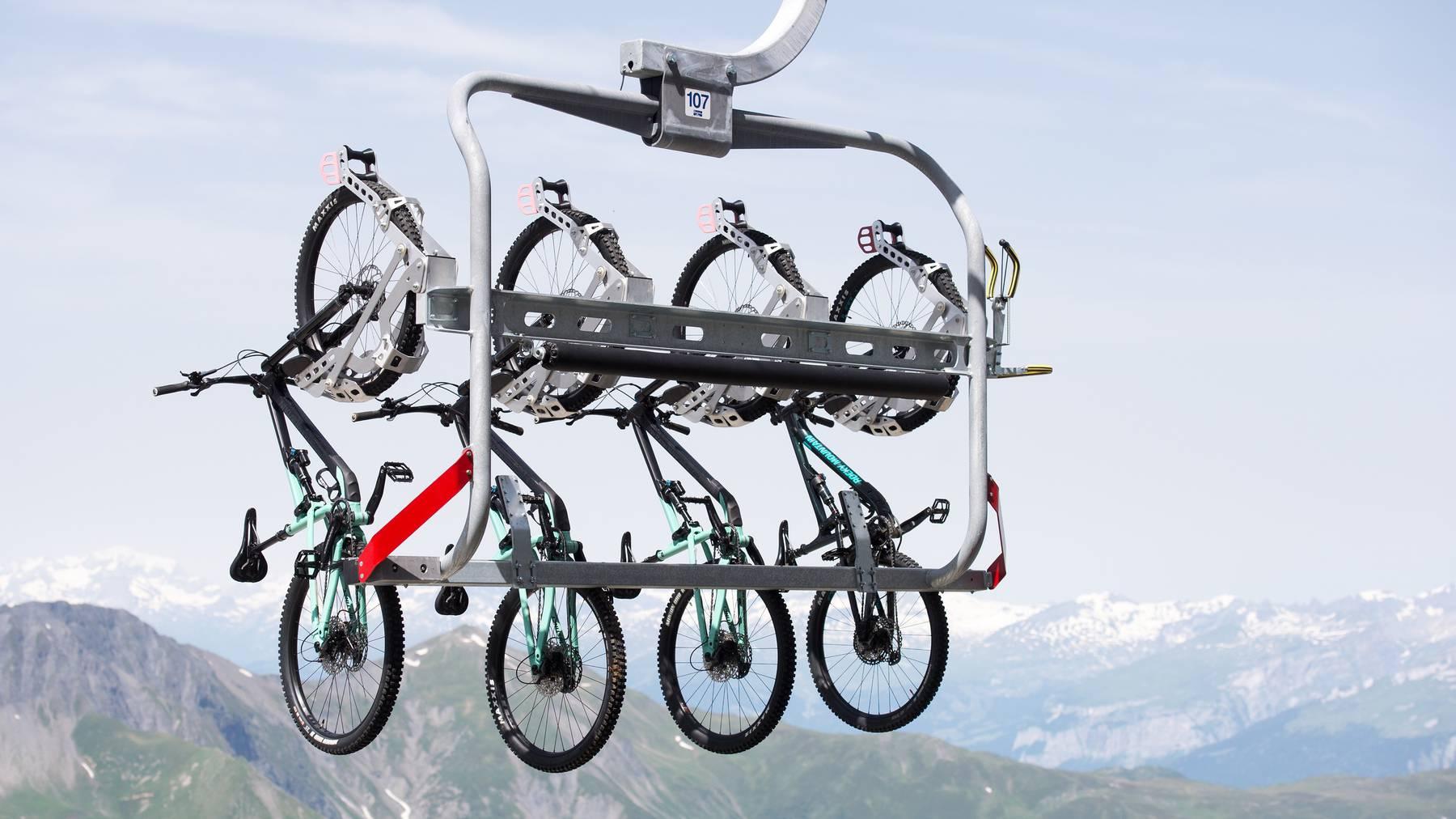 Mit den separaten Bike-Gondeln können vier Bikes gleichzeitig transportiert werden.