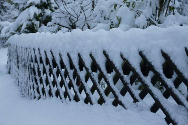 Winterlandschaft in Wohlenschwil