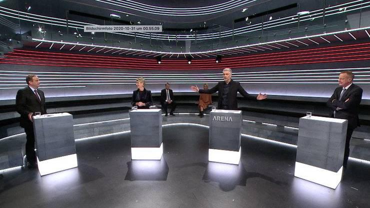 Die SRF-«Arena» zur Konzernverantwortungs-Initiative wurde erneut ohne Publikum durchgeführt.