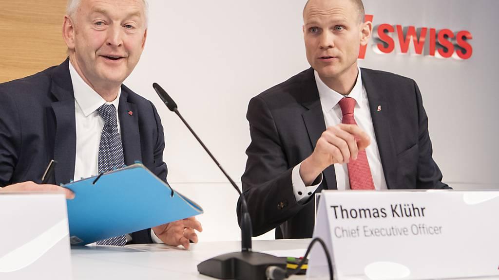 Swiss-Finanzchef Michael Niggemann (rechts), hier neben Swiss-Chef Thomas Klühr, wechselt zurück nach Deutschland (Archivbild).