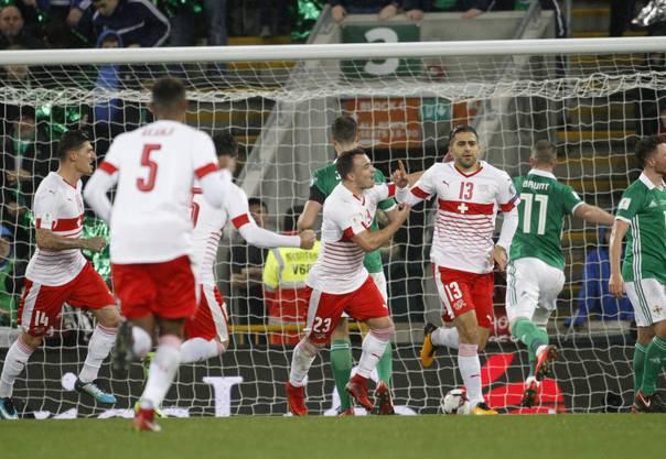 1:0 – Ricardo Rodriguez verwandelt den Elfmeter